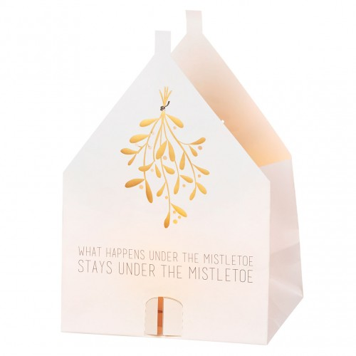 Christmas lighthouse card Mistletoe (Räder)