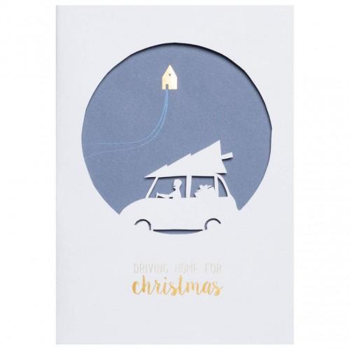 Winter Wonderland card angel & cloud (Räder)