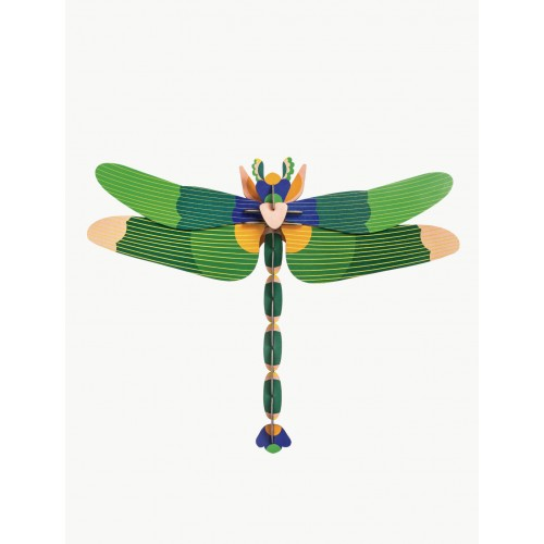 Wall totem, Green dragonfly (Studio ROOF)
