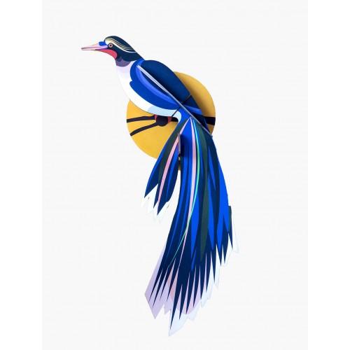 Wall totem, Paradise bird Flores (Studio ROOF)