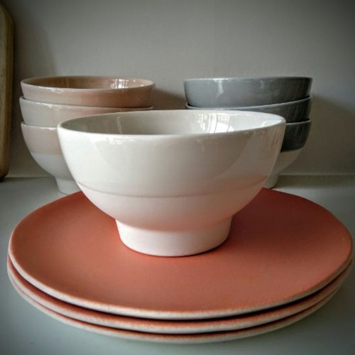 Bol Cantine gris chaux (Jars Céramistes)