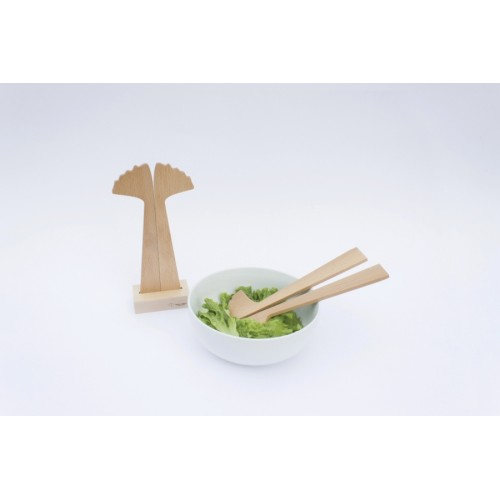 Salad cutlery Ginkgo (Reine Mère)