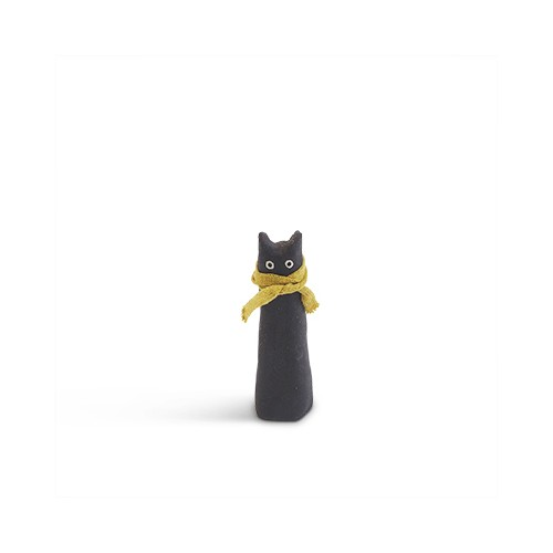 The Curious, chat en céramique noir (Aveva Design)