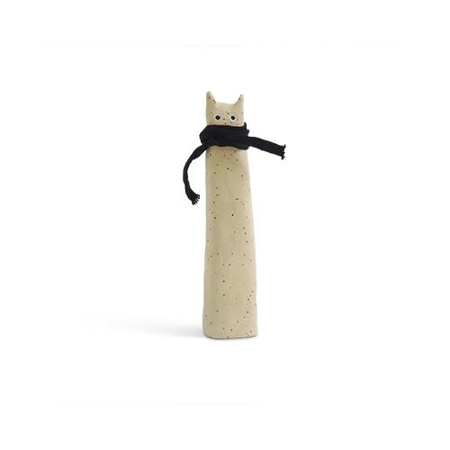 The Curious, chat en céramique noir (Aveva Design)