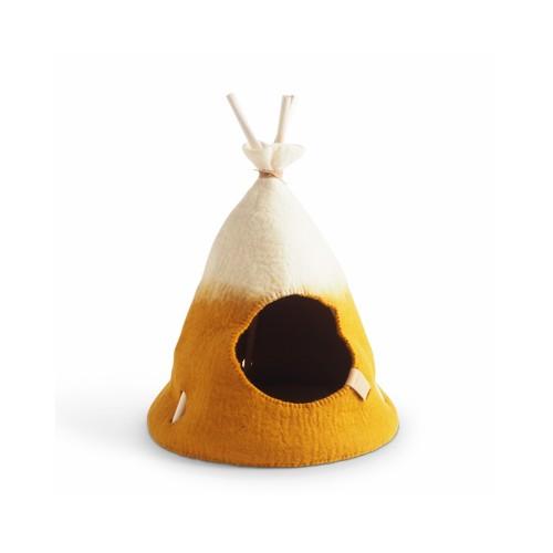 Tipi House for cat, Yellow (Aveva Design)