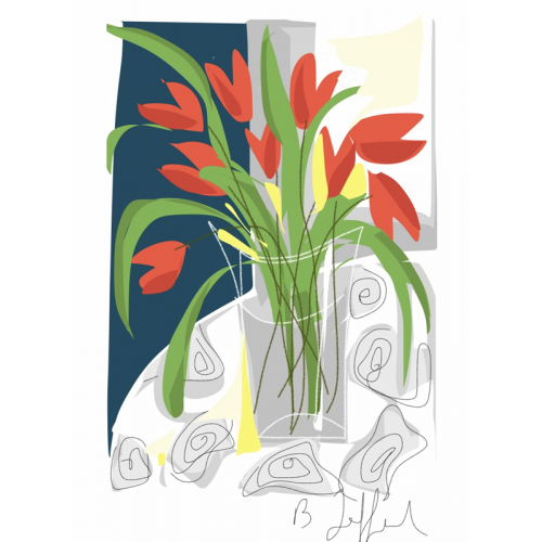 Poster Les Tulipes de Sandrine 30 x 40 cm (B. Jaffart)