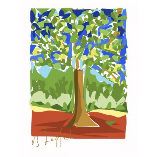 Affiche L'Arbre bleu (B. Jaffart)