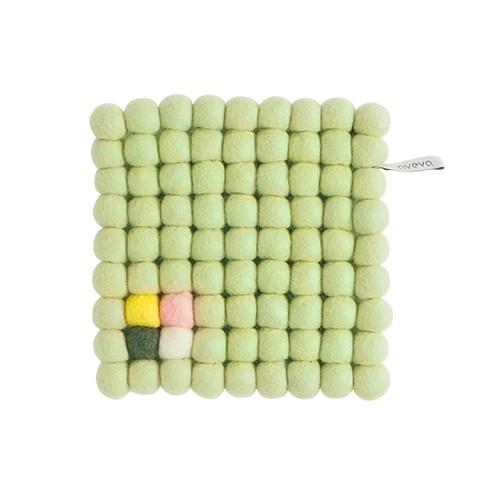 Dessous de plat carré , vert pâle (Aveva Design)