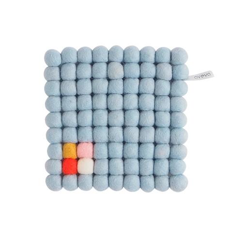 Dessous de plat carré , bleu pâle (Aveva Design)