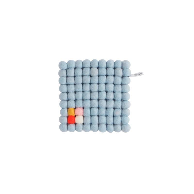 Square trivet, dark grey (Aveva Design)