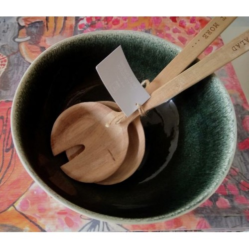 Salad bowl Maguelone, Orage (Jars Céramistes)