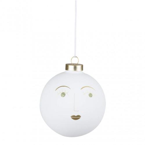 Boule de Noël 5 cm visage Sylvia (Räder)
