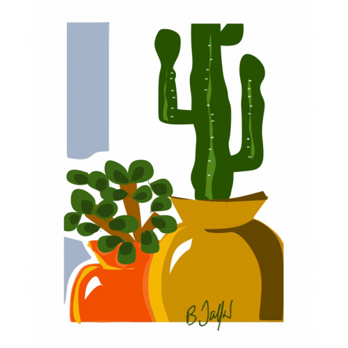 Poster Cactus 30 x 40 cm (B. Jaffart)