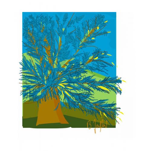 Affiche La Plage de Galets 30 x 40 cm (B. Jaffart)