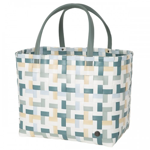Shopper bag Fifty fifty blue green (Handed By)