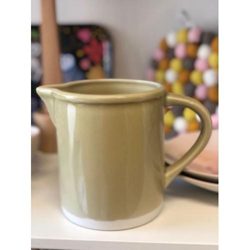 Pichet Cantine vert argile (Jars Céramistes)