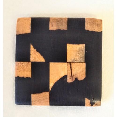Broche carrée en bois de grenadille (G Larondelle)