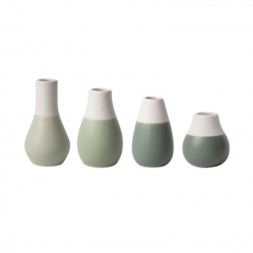 Set of 4 mini vases, greyish green (Räder)