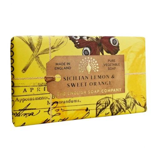 Savon raffiné 190 g, Citron sicilien & orange douce (The English soap Company)