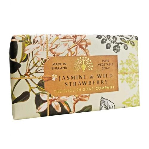 Savon raffiné 190 g, Jasmin et fraise des bois (The English soap Company)