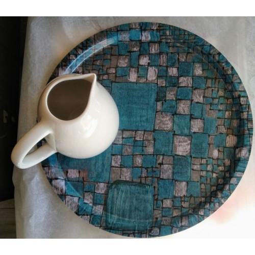 Plateau Rubiscube bleu (Lalie Design)
