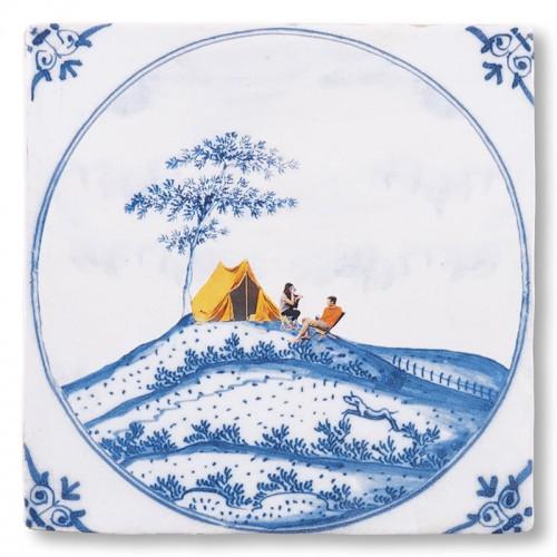 Carreau céramique, Les amoureux du plein air (Storytiles)