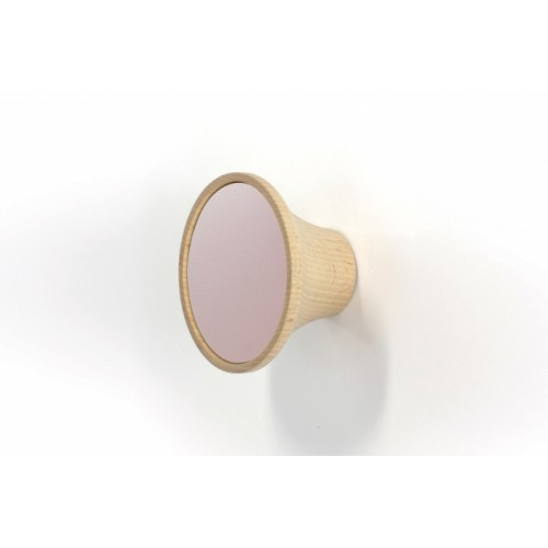 Wood peg with laminated rose, Clairon (Reine Mère)