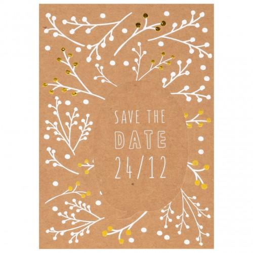 Carte postale de Noël, Save the Date (Räder)